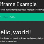Include HTML From External File – alt-iframe