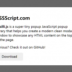 Modern Clean Popup Modal In JavaScript – Fusilli.js
