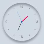Neumorphic Style Analog Clock