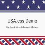 USA Stars And Stripes Patterns For CSS Background – USA.css