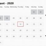 Modern Calendar Date Picker In Vanilla JavaScript