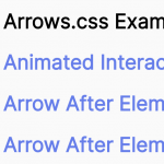 Animated Directional Arrows In CSS – Arrows.css