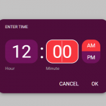 Google Material Inspired Time Picker Component – timepicker-ui