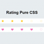 Minimal Rating Control With CSS And Radio Buttons