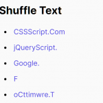 Shuffle Text On Hover And/Or On Page Load – shuffleText.js