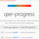 Colorful Progress Bar Library For Vanilla JavaScript – Qier Progress