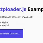 Load Remote Content Via AJAX – httploader.js