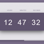 Stylish Digital Clock With Progress Bar