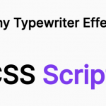 Tiny Typewriter Effect In Vanilla JavaScript – tinyTypewriter.js