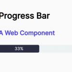 Animated Progress Bar Web Component – progressbar.js