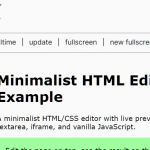 Minimalist HTML Editor With Live Preview