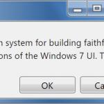 Windows 7 CSS Framework – 7.css
