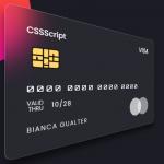 Glassmorphism Debit/Credit Card In Pure CSS