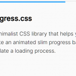 Slim Progress Bar With CSS/CSS3 – progress.css