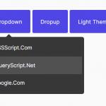 CSS/SCSS Dropdown & Dropup Component – Drop.css
