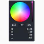 Flat RGB/HEX/HSV Color Picker In JavaScript