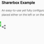 Floating Social Share Bar In Pure JavaScript – Sharerbox