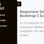 Responsive Sidebar Navigation For Bootstrap 5