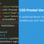 Manipulate CSS Variables Per Each Element – css-proxied-vars