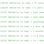 Convert Timestamp To User-friendly Format – relative-time.js