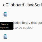 Easy Copy To Clipboard Button In JavaScript – cClipboard
