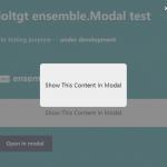 Show Inline Content In A Modal – Ensemble Modal