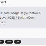 Convert #hashtags Into Tags – Badge-Tags.js