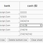 Easy Spreadsheet-like Data Table In JavaScript – spreadsheet.js