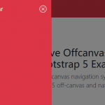 Responsive Offcanvas Menu For Bootstrap 5