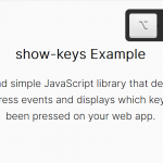 Show Which Key Is Pressed On Page – show-keys