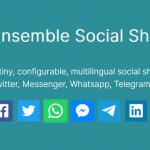 Social Sharing Libraray For Popular Social Networks – Ensemble SocialShare