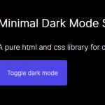 Minimal Dark Mode Switch Button In JavaScript