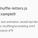 Reveal Text With Scrambling Effect – shuffle-letters.js