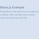Advanced Custom Scrollbar Javascript Library – scrollboss.js