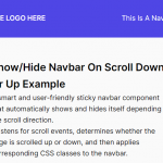 Show/Hide Navbar On Scroll Down Or Up