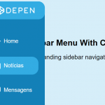 Sidebar Menu With Curved Outside Effect