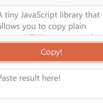 Copy Text Or HTML To Clipboard – CopyJS