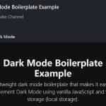 Dark Mode Boilerplate In Vanilla JavaScript